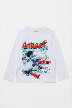 OVS παιδική μπλούζα με skater print (3-10 ετών)