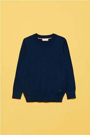 OVS παιδική μπλούζα φούτερ με ton-sur-ton κέντημα (3-10 ετών)