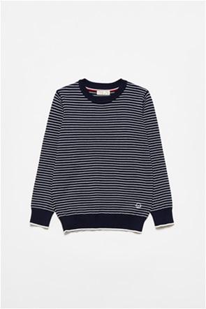 OVS παιδική μπλούζα φούτερ ριγέ με print (3-10 ετών)