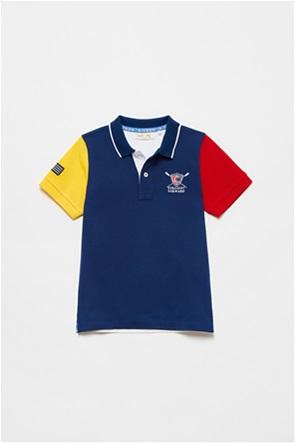 OVS παιδική πόλο μπλούζα colourblocked με κέντημα (3-10 ετών)