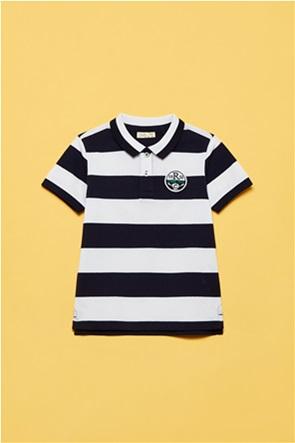 OVS παιδική πόλο μπλούζα ριγέ με patch (3-10 ετών)