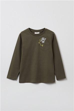 OVS παιδική μπλούζα με robot print (3-10 ετών)
