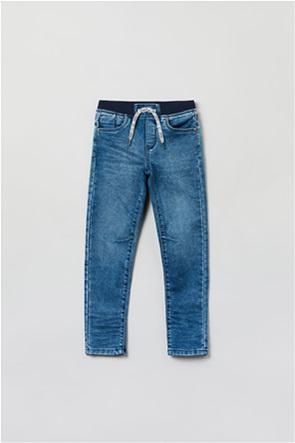 OVS παιδικό τζην παντελόνι πεντάτσεπο με λάστιχο (3-10 ετών)