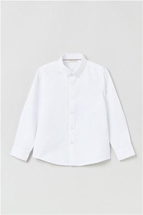OVS παιδικό πουκάμισο μονόχρωμο button down (3-10 ετών)