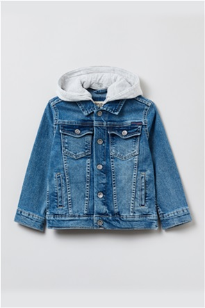 OVS παιδικό τζην μπουφάν με κουκούλα (3-10 ετών)