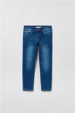 OVS παιδικό τζην παντελόνι ξεθωριασμένο Regular-Fit (3-10 ετών)
