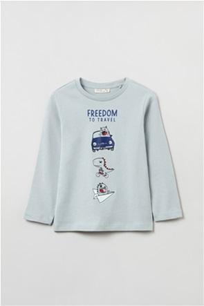OVS παιδική μπλούζα φούτερ με dinosaur print (3-10 ετών)