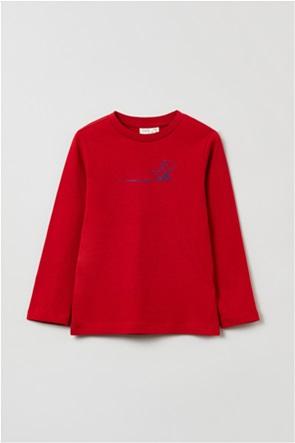 OVS παιδική μπλούζα φούτερ μακρυμάνικο με dinosaur print (3-10 ετών)