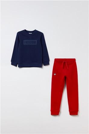 OVS παιδικό σετ ρούχων μπλούζα φούτερ και παντελόνι φόρμας  (3-10 ετών)