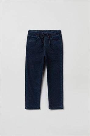 OVS παιδικό παντελόνι τζην με κορδόνι (3-10 ετών)
