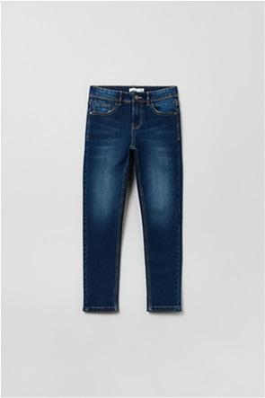 OVS παιδικό τζην παντελόνι πεντάτσεπο ξεθωριασμένο Slim-Fit (3-10 ετών)