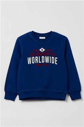 OVS παιδική μπλούζα φούτερ με letter print (3-10 ετών)