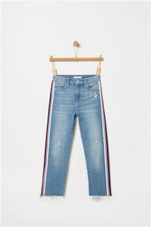 OVS παιδικό τζην παντελόνι με ρίγες και patch (10-15 ετών)