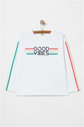 "OVS μακρυμάνικη μπλούζα ""Good Vibes"" (10-15 ετών)"
