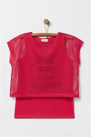 OVS παιδική μπλούζα με διάτρητο layer (10-15 ετών)