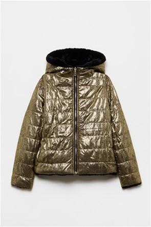 OVS παιδικό μπουφάν διπλής όψης με γούνινη υφή (10-15 ετών)