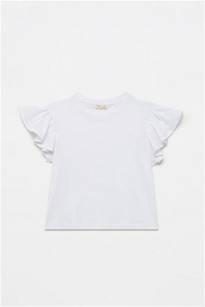 OVS παιδική μπλούζα με βολάν στα μανίκια (10-15 ετών)