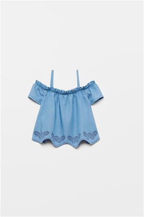 OVS παιδική μπλούζα με carmen λαιμόκοψη και ραντάκι (10-15 ετών)
