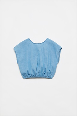 OVS παιδική denim μπλούζα αμάνικη με άνοιγμα στην πλάτη (10-15 ετών)