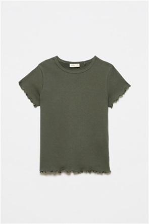 OVS παιδικό T-shirt ribbed μονόχρωμο (10-15 ετών)