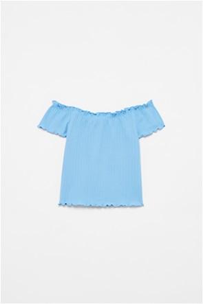 OVS παιδική μπλούζα ribbed με carmen λαιμόκοψη (10-15 ετών)
