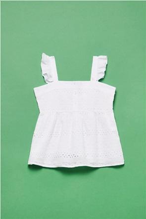 OVS παιδική μπλούζα με δαντέλα κιπούρ και βολάν (10-15 ετών)