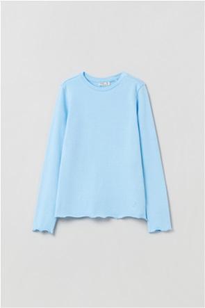 OVS παιδική μπλούζα με σχέδιο στο τελείωμα (10-15 ετών)