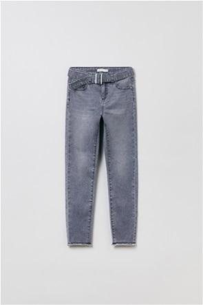 OVS παιδικό τζην παντελόνι με ζώνη (10-15 ετών)