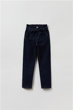OVS παιδικό τζην παντελόνι με ζώνη Regular-fit (10-15 ετών)