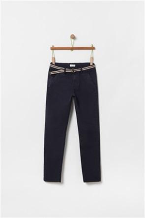 OVS παιδικό μονόχρωμο παντελόνι με ζώνη (10-15 ετών)