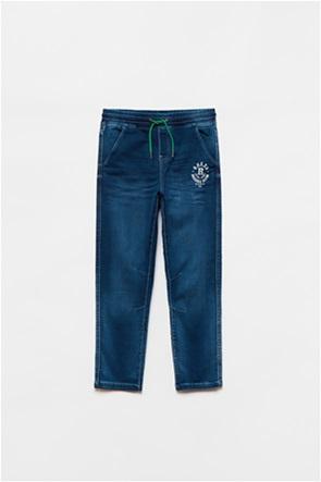 OVS παιδικό τζην παντελόνι με print (10-15  ετών)