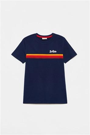 OVS παιδικό T-shirt με διακοσμητικές ρίγες (10-15 ετών)