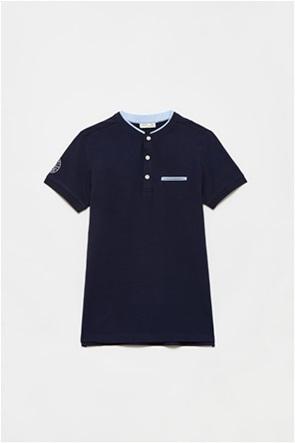 OVS παιδική πόλο μπλούζα με patch στο μανίκι (10-15 ετών)