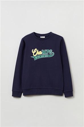 OVS παιδική μπλούζα φούτερ με lettering (10-15 ετών)