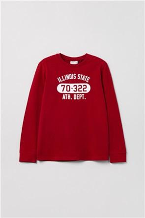 OVS παιδική μπλούζα φούτερ με lettering print (10-15 ετών)