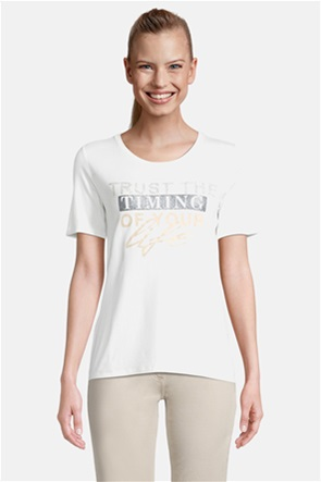 Betty Barclay γυναικεία μπλούζα με letter print και στρας