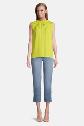 Betty Barclay γυναικεία μπλούζα αμάνικη με σούρες
