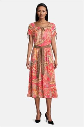 Betty Barclay γυναικείο midi φόρεμα με floral print και ζώνη
