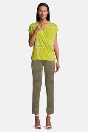 Betty Barclay γυναικεία μπλούζα καρό κρουαζέ