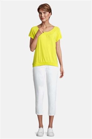 Betty Barclay γυναικεία μπλούζα με λάστιχο στο τελείωμα μονόχρωμη
