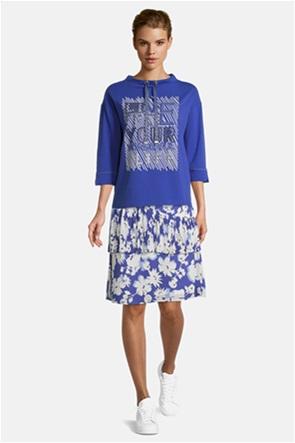 Betty Barclay γυναικεία μπλούζα φούτερ με μανίκι 3/4 και print