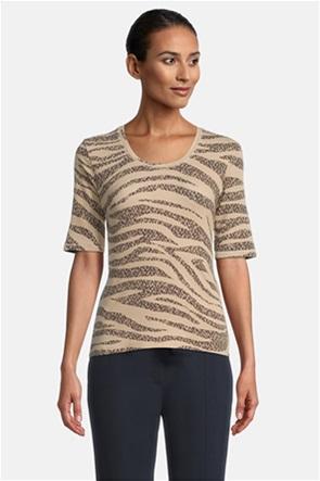 Betty Barclay γυναικεία μπλούζα με all0-over zebra print
