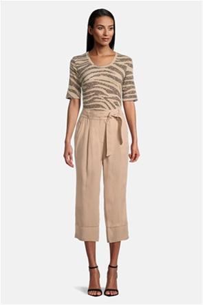 Betty Barclay γυναικείο παντελόνι cropped με ζώνη