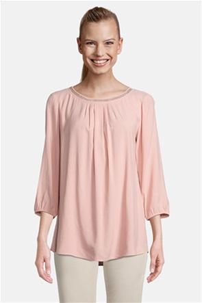 Betty Barclay γυναικεία μπλούζα με διακοσμητικά μανίκι 3/4 και στρας