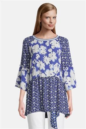 Betty Barclay γυναικεία μπλούζα ασύμμετρη με floral print