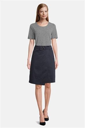 Betty Barclay γυναικεία midi φούστα με wrap effect και ζώνη