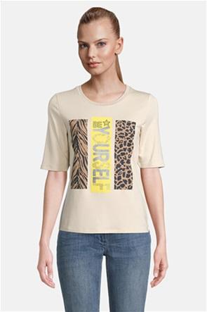 Betty Barclay γυναικεία μπλούζα με μεταλλιζέ στάμπα