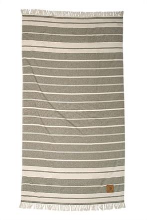Greenwich Polo Club πετσέτα θαλάσσης ριγέ με κρόσσια 90Χ170