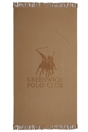 """Greenwich Polo Club πετσέτα θαλάσσης """"Essential"""" με logo και κρόσσια 80 x 170 cm"""