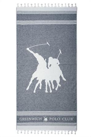 """Greenwich Polo Club πετσέτα θαλάσσης """"Essential"""" με ρίγες και κρόσσια 80 x 180 cm"""